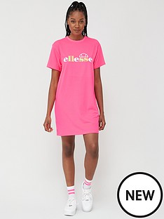 ellesse-exclusive-jessi-t-shirtnbspdress-pinknbsp