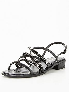 v-by-very-chain-detail-flat-sandals-black