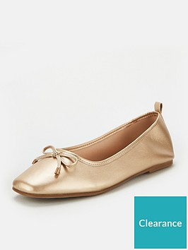 v-by-very-marlow-square-toe-ballerina-gold