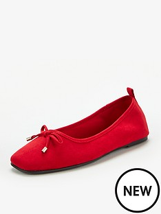 v-by-very-marlow-square-toe-ballerina-red