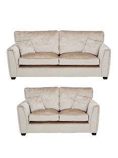 prod1089324482: Glitz Fabric Standard Back 3 + 2 Seater Sofa
