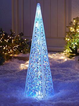 60-cmnbspacrylic-tower-outdoor-christmasnbsplight