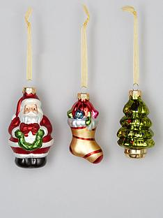 set-of-6-traditional-character-glass-christmasnbsptree-decorations