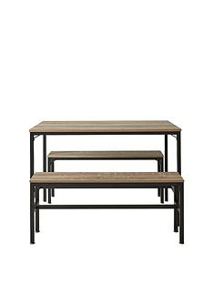 telford-110-cmnbspdining-table-with-2-benches-in-rustic-oak-effect