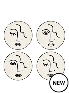 sass-belle-set-of-4nbspabstract-face-coasters