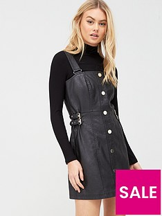 river-island-pu-pinafore-dress-black