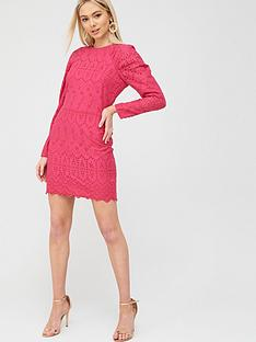 river-island-rouched-sleeve-broderie-mini-dress-pink