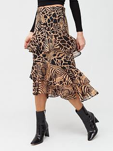 river-island-animal-print-chiffon-tiered-midi-skirt-brown