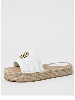 river-island-quilted-mule-espadrille-sandal-white