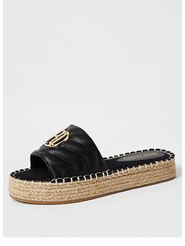 river-island-quilted-mule-espadrille-sandal-black
