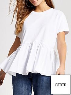 ri-petite-poplin-peplum-smock-jersey-top-white