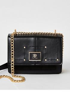 river-island-fold-over-cross-body-bag-black