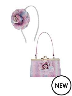 monsoon-girls-2-piece-treasured-flower-mini-bag-and-hair-band-set-multi