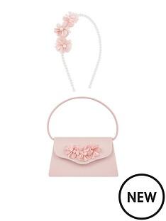 monsoon-girls-macaroon-flower-mini-bag-alice-band-set-pink