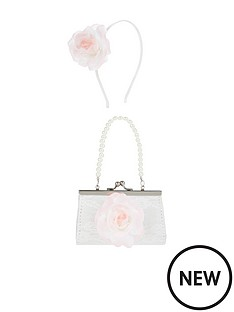 monsoon-girls-chrissy-flower-mini-bag-amp-hair-band-set-pink