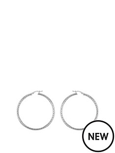 the-love-silver-collection-sterling-silver-35mm-twist-hoop-earrings