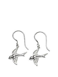 the-love-silver-collection-sterling-silver-swallow-earrings