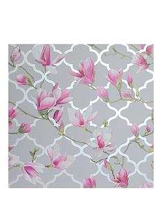 arthouse-magnolia-trellis-grey-pink-metallic-wallpaper
