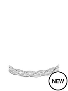 the-love-silver-collection-sterling-silver-twined-herringbone-necklace