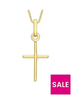 love-gold-9ct-gold-fancy-cross-pendant-necklace