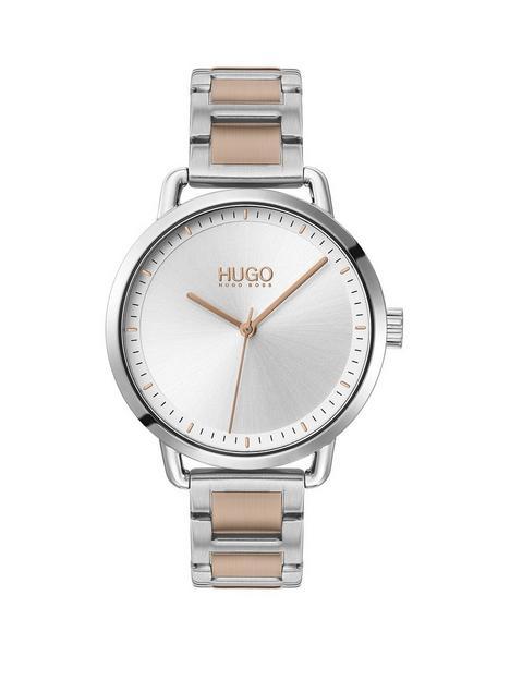 hugo-hugo-mellow-stainless-steel-white-dial-bracelet-watch