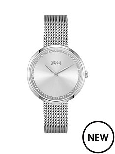 boss-praise-stainless-steel-mesh-strap-silver-crystal-dial-watch