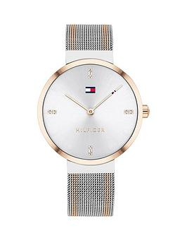 tommy-hilfiger-tommy-hilfiger-liberty-bi-colour-stainless-steel-mesh-white-sunray-dial-ladies-watch