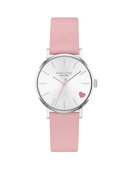 coach-coach-perry-pink-leather-strap-28mm-white-sunray-dial-heart-detail-ladies-watch