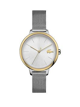 lacoste-200127nbspbi-colour-stainless-steel-mesh-strap-34mm-white-dial-bracelet-watch-silver-gold-tone
