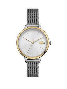 lacoste-lacoste-bi-colour-stainless-steel-mesh-strap-34mm-white-dial-bracelet-watch