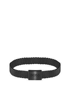 boss-boss-mesh-essentials-black-ip-mesh-bracelet