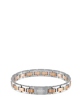 boss-boss-metal-link-essentials-stainless-steel-and-rose-gold-bracelet