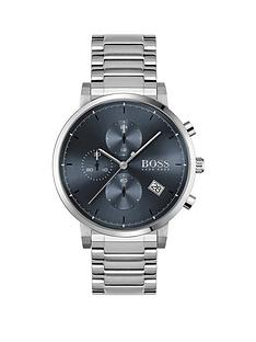 boss-boss-intergrity-stainless-steel-bracelet-blue-dial-chronograph-watch