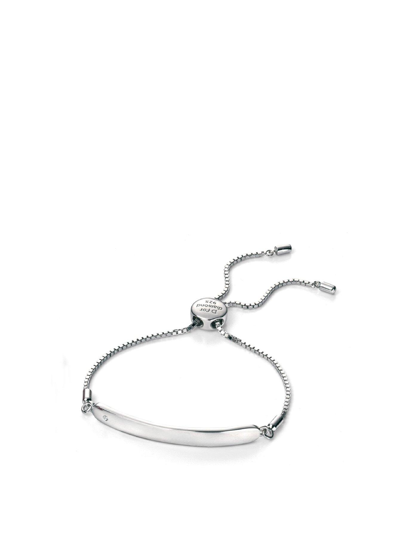 Sterling Silver Childrens Id Bracelet