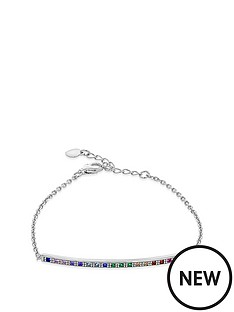 the-love-silver-collection-rhodium-plated-sterling-silver-multi-coloured-cubic-zirconia-bracelet