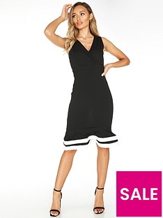 quiz-quiz-black-midi-dress-with-vneck-and-fluted-hem