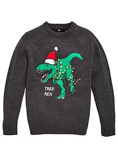 v-by-very-boys-christmas-tree-rex-dino-knitted-jumper-black