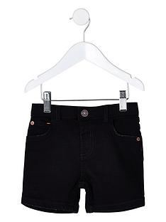 river-island-mini-mini-boys-dylan-slim-denim-shorts-black