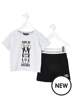 river-island-mini-mini-boys-king-of-dreams-pyjama-set--grey