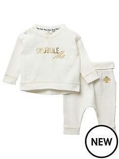 river-island-baby-baby-printed-waffle-tshirt-and-jogpant-set-cream