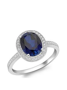 love-gold-9ct-white-gold-blue-cubic-zirconia-oval-ring