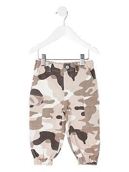 river-island-mini-girls-camo-utility-trousers--nbspkhaki