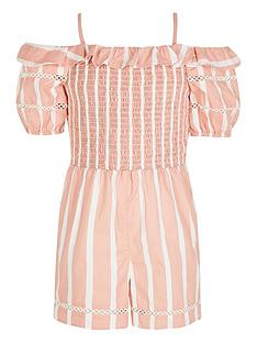 river-island-girls-stripe-bardot-playsuit-pink