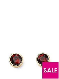 the-love-silver-collection-swarovski-birthstone-gold-plated-silver-silver-earrings