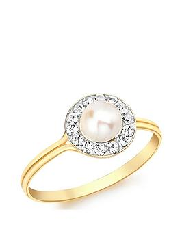 love-gold-9ct-gold-pearl-and-cubic-zirconia-ring