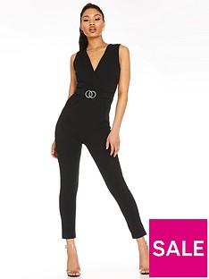 quiz-quiz-scuba-crepe-buckle-jumpsuit-black