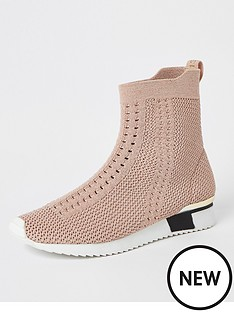 river-island-girls-knitted-high-top-trainers-pink