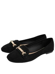 accessorize-snaffle-detail-shoes-black