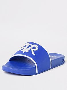 river-island-boys-rvr-embossed-slider-blue