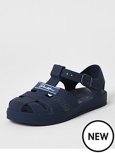 river-island-boys-prolific-jelly-sandals-navy